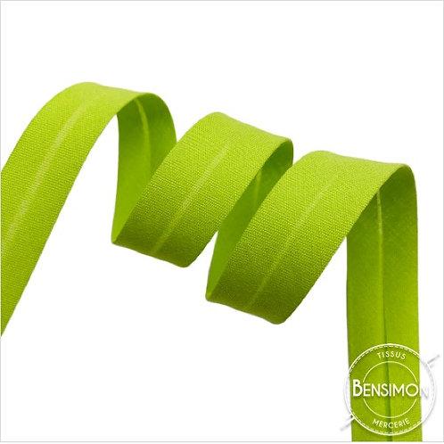 Biais coton replié 20mm - Vert anis n°1210