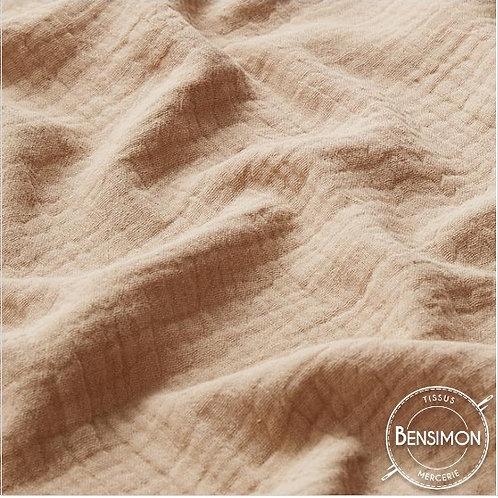 Simple gaze coton OekoTex  - Beige clair X 50cm