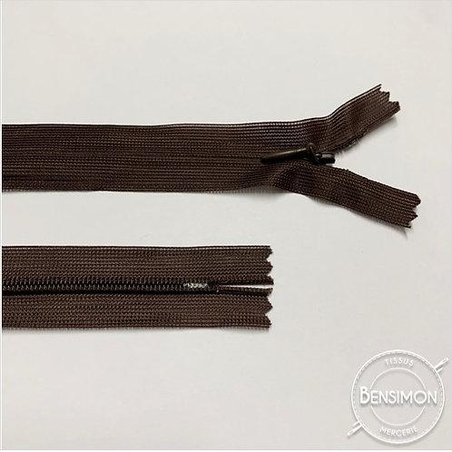 Fermeture invisible 4mm non séparable - Marron foncé