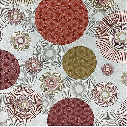Tissu toile savoie 100% coton - Alveres rouge X 50cm