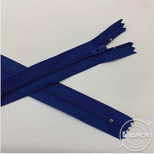 Fermetures nylon 3mm non séparables - Bleu roi 20 à 60cm