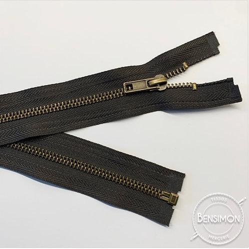 Fermeture métal 5mm séparable - Marron foncé
