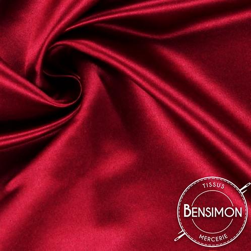Tissu satin duchesse - Rouge X 50cm