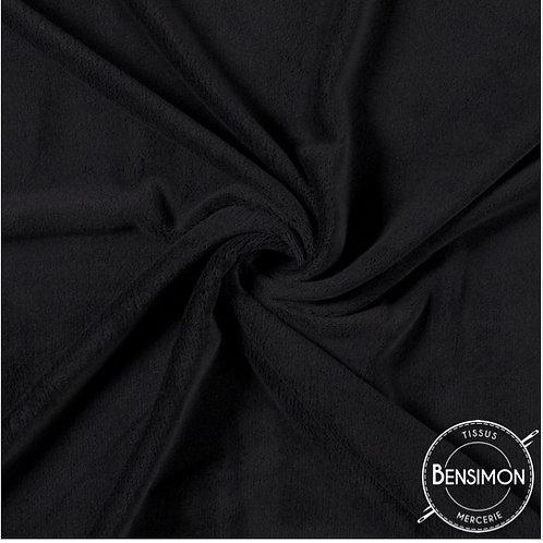 Tissu Pilou - Noir X 50cm