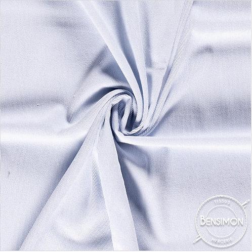 Tissu Velours côtelé milleraies - Bleu layette X 50cm