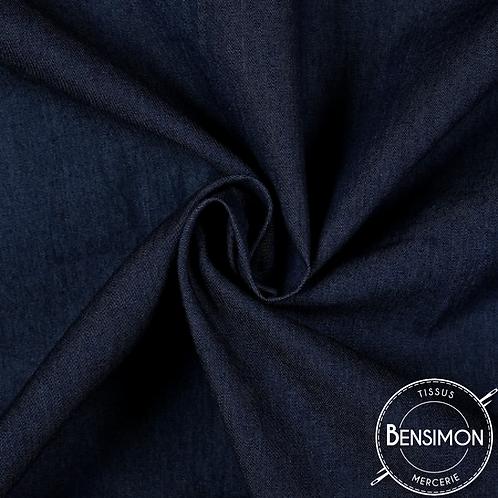 Tissu Jeans Stretch - Bleu Brut X 50cm