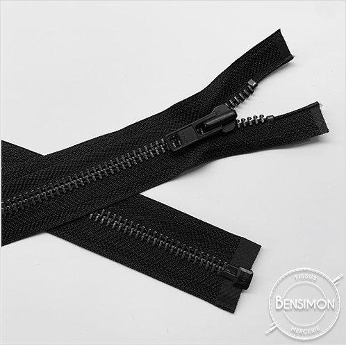 Fermeture métal YKK 8mm séparable - Noir