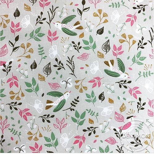 Tissu coton imprimés - Hirondelle X 50cm