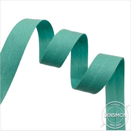 Biais coton replié 20mm - Vert menthe n°1202