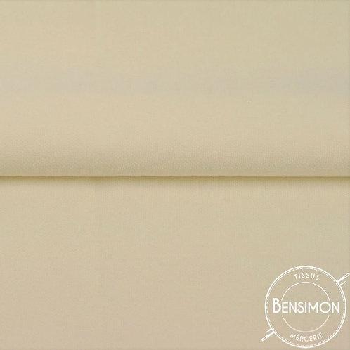 Tissu natté Gabardine Coton - Beige X 50cm