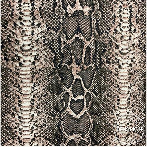 Tissu coton viscose imprimée - Peau de bête X 50cm