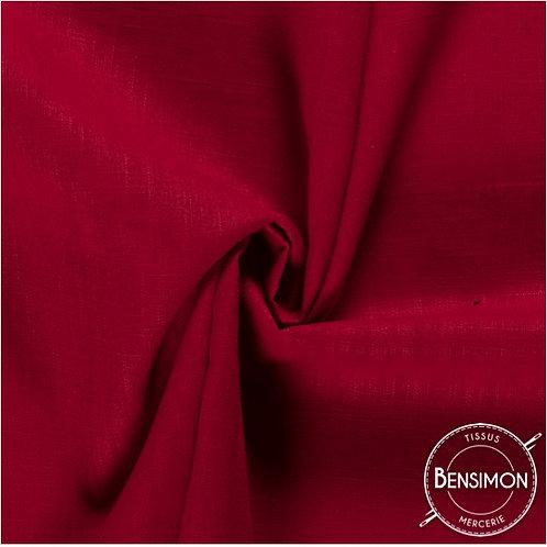 Tissu Lin - Rouge X 50cm