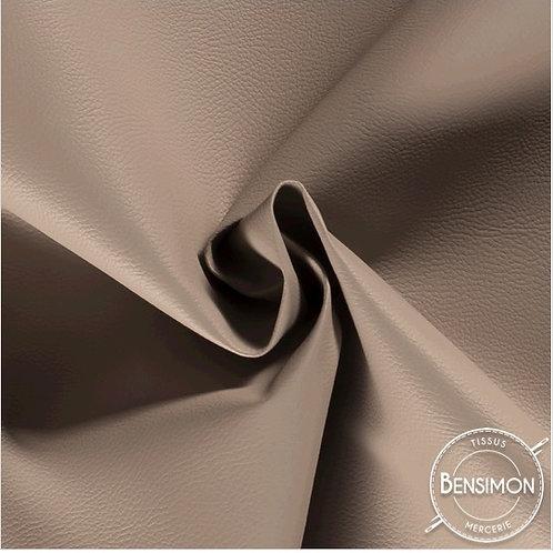 Tissu Simili Cuir Grainé - Taupe X 50cm
