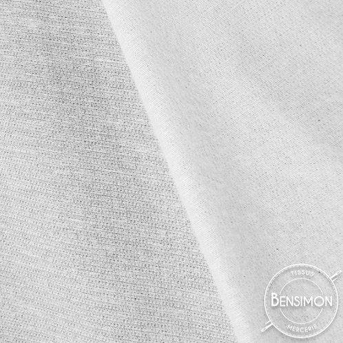 Entoilage thermocollant tissé laineux - Blanc X 50cm