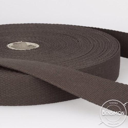 Sangle sac 100% coton 30mm marron