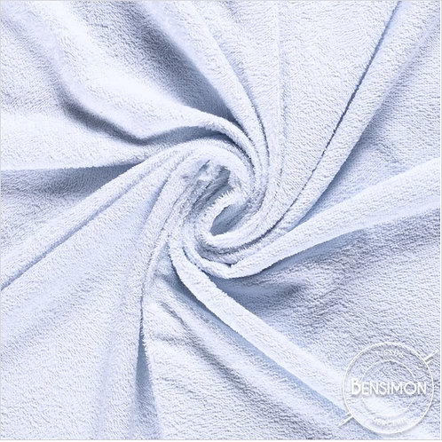 Tissu éponge coton OekoTex - Bleu ciel X 50cm