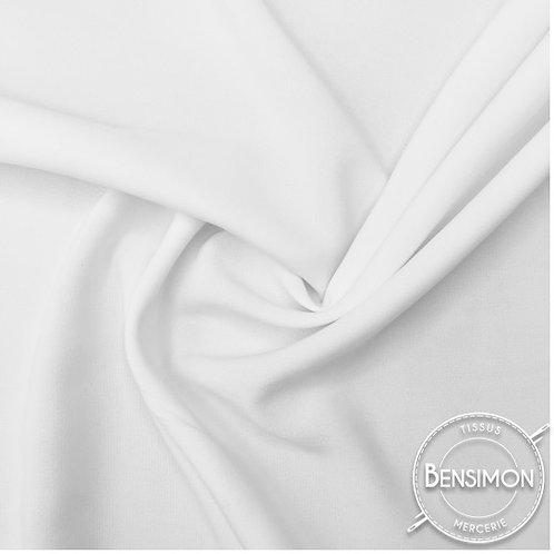 Tissu Crêpe - Blanc X 50cm