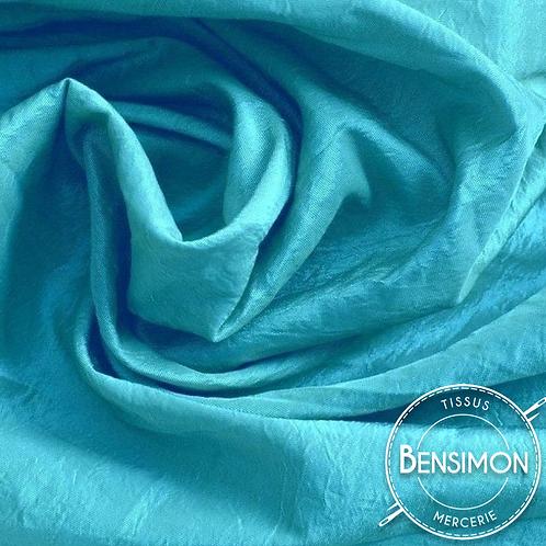 Tissu satin taffetas - Turquoise X 50cm