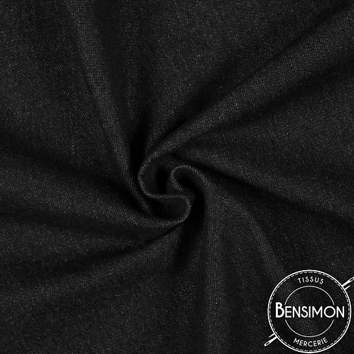 Tissu Jeans Stretch - Noir X 50cm
