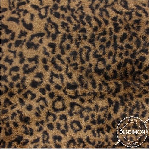 Tissu fausse Fourrure - Peau de bête marron X 50cm