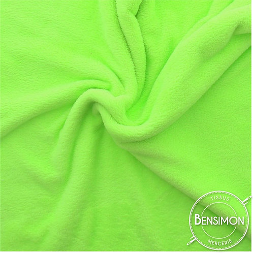Tissu doudou pilou tout doux vert anis