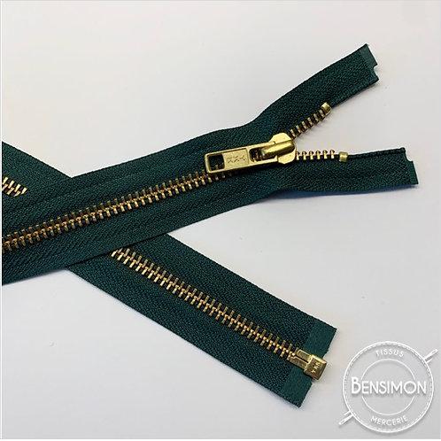 Fermeture métal YKK 5mm séparable - Vert Or