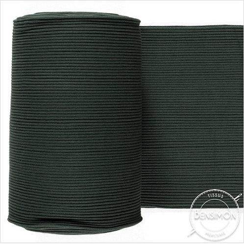 Tissus bord côte tubulaire - Vert sapin X 50cm