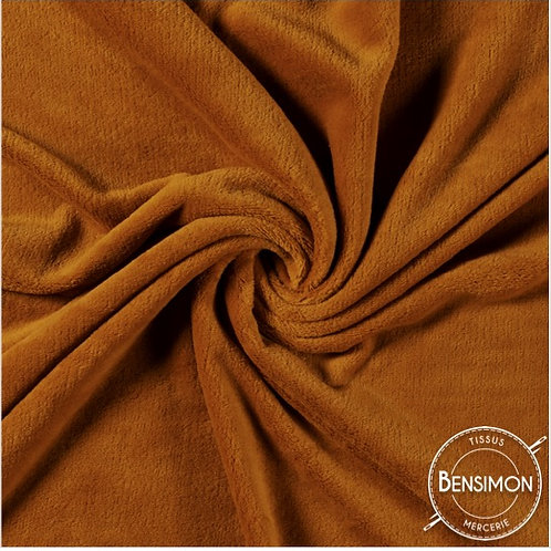 Tissu Pilou - Terracotta X 50cm