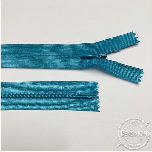 Fermeture invisible 4mm non séparable - Turquoise