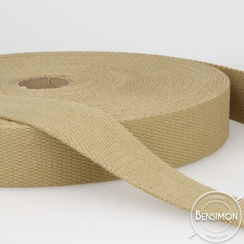 Sangle sac 100% coton 30mm beige