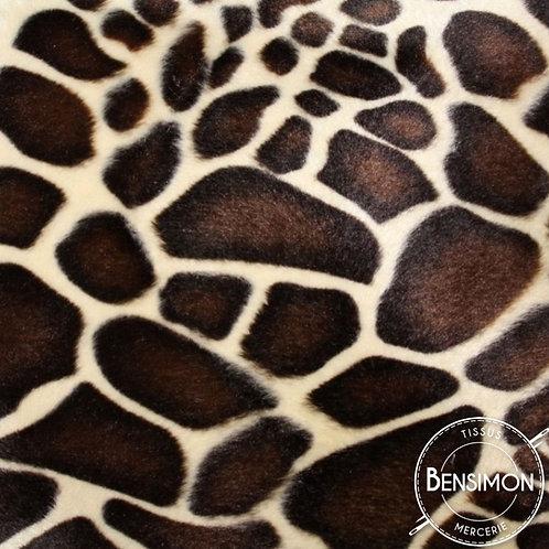 Tissu effet peau de bête - Girafe X 50cm