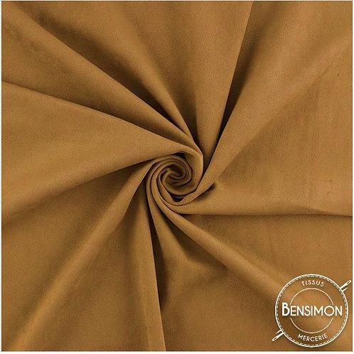 Tissu Suédine épaisse unie - Camel X 50cm