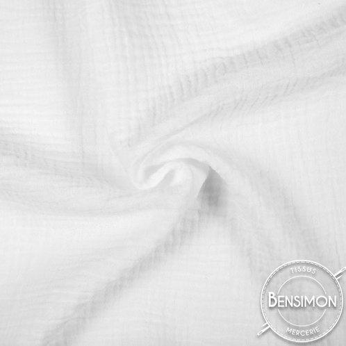double gaze coton lange oekotex blanc