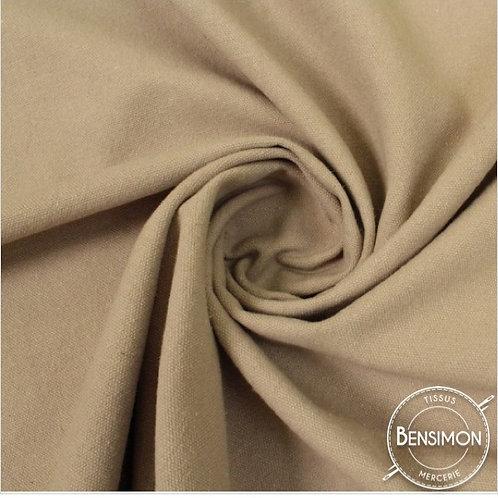 Tissu natté toile lourde - Lin X 50cm