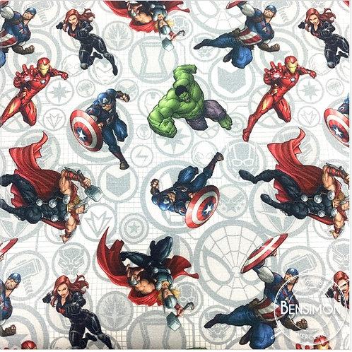 Tissu coton imprimés - Disney licence Avengers X 50cm