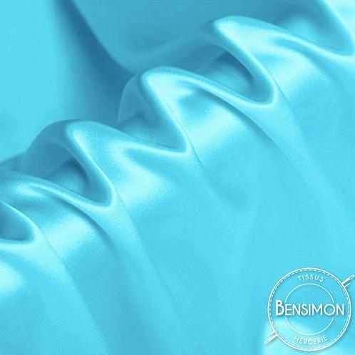 Tissu satin premium - Turquoise X 50cm