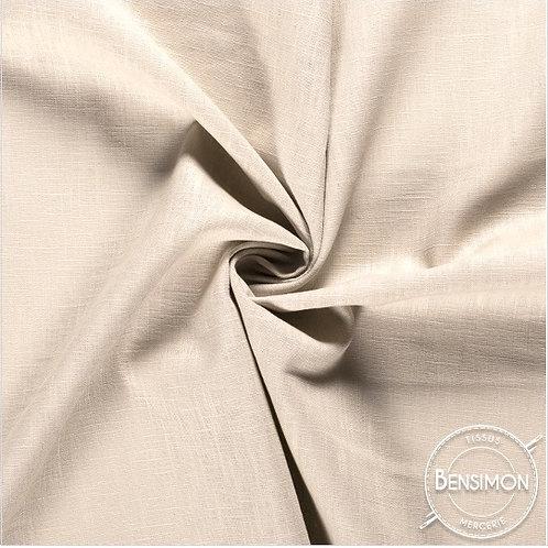 Tissu Lin - Beige clair X 50cm