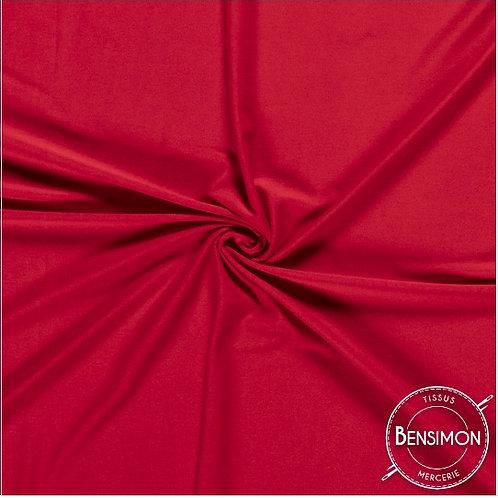 Tissu Jersey coton haut de gamme - Rouge X 50cm