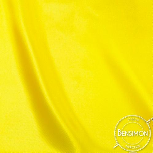 Tissu satin uni léger - Jaune citron X 50cm