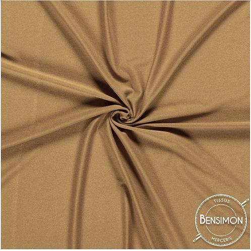 Tissu Jersey coton léger - Camel X 50cm