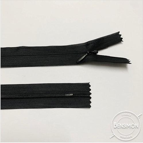 Fermeture invisible 4mm non séparable - Noir
