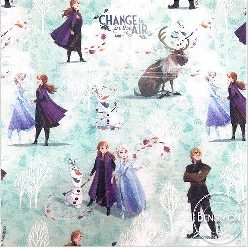 Tissu coton imprimés - Disney licence Reine des neiges X 50cm