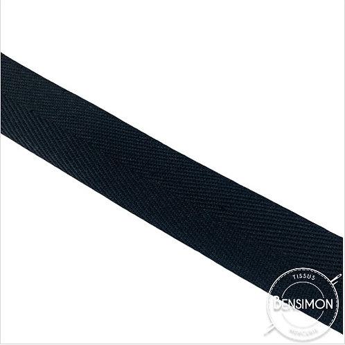 Sergé 100% coton - Noir