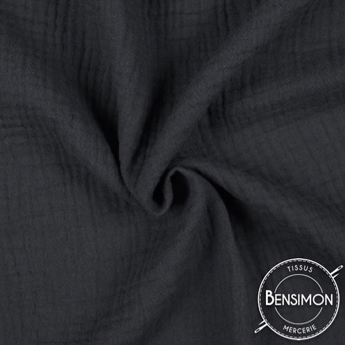 double gaze coton oekotex lange noir