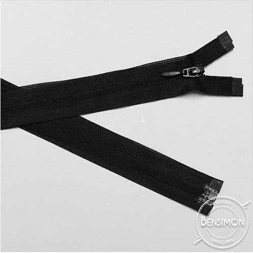 Fermeture invisible 4mm séparable - Noir