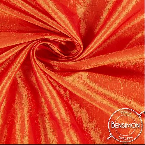 Tissu satin taffetas - Orange X 50cm