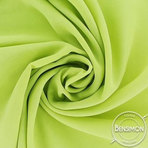 Tissu Mousseline - Vert anis X 50cm