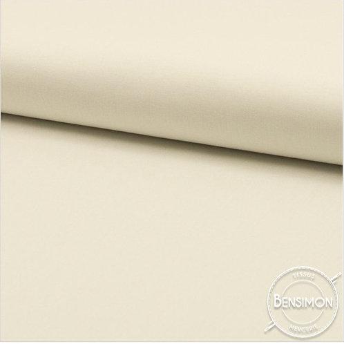 Tissu Coton uni Popeline - Écru X 50cm