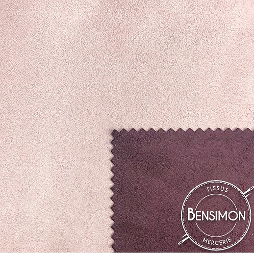 Tissu Suédine épaisse bicolore - Parme & Prune X 50cm