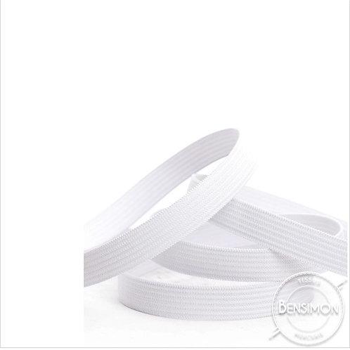 Élastique plat tissé 10mm - Blanc ou Noir
